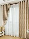 Două Panouri Tratamentul fereastră Țara Neoclasic European Sufragerie Poliester Material Blackout Perdele Draperii Pagina de decorare For