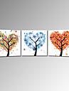 Romantic Artă Pop Trei Panouri Pătrat Imprimeu Decor de perete Pagina de decorare