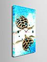 Dreptunghiular Modern/Contemporan Ceas de perete , Altele Canava 30 x 60cm(12inchx24inch)x1pcs /40 x 80cm(16inchx32inch)x1pcs