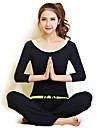 Yoga Klädesset Lättviktsmaterial Elastisk Fotbollströjor Dam Yoga Pilates Motion & Fitness Fritid Sport Löpning