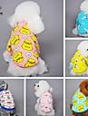 Chat Chien Tee-shirt Pyjamas Vetements pour Chien Bande dessinee Jaune Bleu Rose Bleu/Jaune Rose dragee clair Polaire Coton Costume Pour