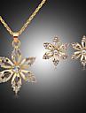 Pentru femei Seturi de bijuterii Zirconiu Cubic Diamante Artificiale Placat Cu Aur Roz Aliaj Draguț Petrecere Modă Petrecere Ocazie