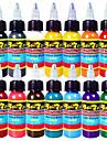 14 × 30 ml Babyblå Banankräm Ljusorange Klarröd Fuschia Guldgul Ljusgrön Ljuslila Mario Blått Ros rosa Silver Snövit mix Riktigt Grön