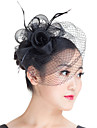 Gemstone & Crystal Imitation Pearl Feather Polyester Fascinators Headpiece with Crystal 1 Wedding Special Occasion Party / Evening Casual