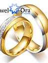 Bărbați Pentru femei Inele Cuplu Verighete Iubire La modă Placat cu platină Oțel Circle Shape Bijuterii Bijuterii Pentru Nuntă Petrecere
