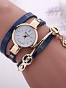 Pentru femei Ceas La Modă Ceas Brățară Ceas Casual Quartz Ceas Casual imitație de diamant PU Bandă Boem Negru Alb Albastru Roșu
