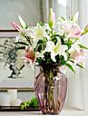 Konstgjorda blommor 2 Gren Europeisk Stil Liljor Bordsblomma