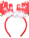 Christmas Party Supplies Reindeer Antlers Headband Jingle Bell Textile Feathers Cotton Toy Gift 1 pcs