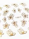 12pcs - Autocollants 3D pour ongles / Bijoux pour ongles - Doigt - en Fleur / Adorable - 62mm*52mm