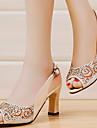 Pentru femei Pantofi Sintetic Primăvară Vară Confortabili Toc Îndesat pentru Casual Birou și carieră Party & Seară Negru Bej