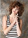 Парики из искусственных волос Кудрявый / Kinky Curly Стиль Без шапочки-основы Парик Коричневый Искусственные волосы Жен. Парик Короткие Парик для Хэллоуина