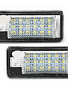 2 alb 18 LED-uri SMD licență lumini placă Becuri becuri pentru Audi A3 8e a4 RS4 a6 Q7