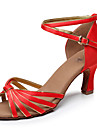 Latin / Salsa / Samba - Pantofi de dans (Negru / Maro / Roșu / Multicolor) - Personalizat - Pentru femei
