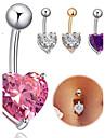 Inel inelar / Piercing pe burta - Teak Inimă Design Unic, Modă Pentru femei Bijuterii de corp Pentru Zilnic / Casual