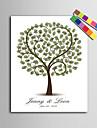 e-home® personalizate pictura de amprente panza printuri - copac dragoste (include 12 fcolors cerneală)