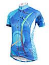 ILPALADINO Maillot de Cyclisme Femme Manches Courtes Velo Maillot Hauts/Top Sechage rapide Resistant aux ultraviolets Respirable