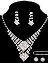 Pentru femei Ștras Aliaj Nuntă Petrecere Ocazie specială Aniversare Zi de Naștere Logodnă Cadou Inele Σκουλαρίκια Coliere Brățări Costum