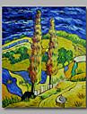 Pictat manual Abstract / Peisaje Abstracte Modern Un Panou Canava Hang-pictate pictură în ulei For Pagina de decorare