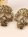 Cercei Stud La modă Personalizat European Aliaj Skull shape Argintiu Auriu Bijuterii Pentru Petrecere Halloween Zilnic Casual 2pcs