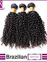 Brasilianskt hår Kinky Curly Klassisk Hårförlängning av äkta hår 3 delar Hög kvalitet Human Hår vävar Dagligen