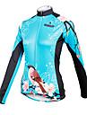 ILPALADINO Maillot de Cyclisme Femme Manches Longues Velo Maillot Hauts/Top Tenues de Cyclisme Sechage rapide Respirable Floral /