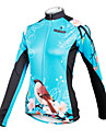 ILPALADINO Maillot de Cyclisme Femme Manches Longues Velo Maillot Hauts/Top Sechage rapide Respirable 100 % Polyester Floral / Botanique