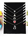 Negru catifea colier șevalet bijuterii afișează 19 * 7 * 28cm stil elegant