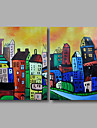 Oil Painting Hand Painted - Abstract Landscape Modern Canvas