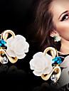 Dame Cercei Stud costum de bijuterii Aliaj Flower Shape Bijuterii Pentru Nuntă Petrecere Zilnic