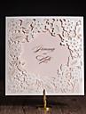 折本式 結婚式の招待状 招待状カード アーティスティック モダンスタイル 花のスタイル アート紙 フラワー