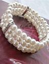 Pentru femei - Imitație de Perle, Argintiu Manşetă, Componentă, Clasic Brățări Pentru Nuntă / Petrecere / Ocazie specială / Aniversare / Zi de Naștere / Logodnă / Cadou / Zilnic