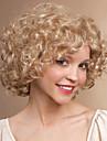 Synthetische Peruecken Locken Stil Kappenlos Peruecke Blond Blondine Synthetische Haare Damen Blond Peruecke Kurz Halloween Peruecke
