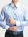 Bărbați Cămașă Casul/Zilnic Elegant Plus SizeMată Manșon Lung Bumbac