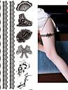 1 Tatueringsklistermärken Annat Ogiftig Mönster Glitter Ländrygg Vattentät JulSpädbarn Barn Dam Tjej Herr Vuxen Kille Tonåring