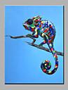 HANDMÅLAD Popkonst Vertikal, Moderna Duk Hang målad oljemålning Hem-dekoration En panel