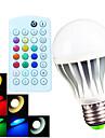 B22 E26/E27 Bulb LED Glob A60(A19) 15 led-uri SMD 5730 Intensitate Luminoasă Reglabilă Telecomandă Decorativ Alb Cald Alb Rece Alb