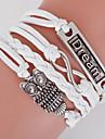 Bărbați Dame Bratari Wrap loom brățară Strat dublu Bohemia Stil Ajustabile Aliaj Geometric Shape Ancoră Bufniță Iubire Bijuterii Pentru