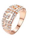 Pentru femei Cristal Inel de declarație - Diamante Artificiale, Aliaj Lux, Modă O Mărime Argintiu / Auriu Pentru Nuntă / Petrecere
