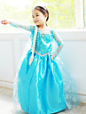 Prințesă DinBasme Elsa Costume Cosplay Cosplay de Film Albastru Rochie Halloween An Nou Șifon