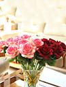 flori artificiale trandafir rosu de buchet pasiune flori artificiale flori de mătase 1pc / set