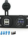 iztoss 3.1a 5V Dual USB port de încărcător și soclu 12-24V voltmetru pentru motociclete motocicleta barca RV auto
