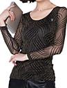 Pentru femei Mărime Plus Size Tricou Dungi Plasă Nailon