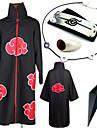 Inspirat de Naruto Itachi Uchiha Anime Costume Cosplay Costume Cosplay Mai multe accesorii Imprimeu Colier Manta Mai multe accesorii Armă