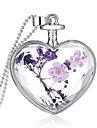 Cristal Pandative Plastic Inimă femei Modă Mov Coliere Bijuterii Pentru Nuntă Petrecere Zilnic Casual