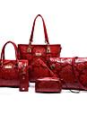 Dam Väskor PU bag set 6 st handväska för Shopping Casual Formell Kontor & Karriär Alla årstider Beige Röd Blå
