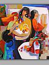 Pictat manual Oameni Pătrat, Modern pânză Hang-pictate pictură în ulei Pagina de decorare Un Panou