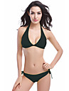 Femei Bikini / Tankini Femei Cu Susținere Solid Push-up / Sutiene cu Bureți / Ajustabile Spandex / Polyester