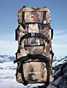 80L Ryggsäckar / Ryggsäck / ryggsäck - Bärbar, Slirsäker, Multifunktionell Camping, Fritid Sport, Resa Duk Armégrön, Khaki grön, ljusgrön