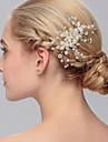 perla păr pieptene părul nuntă partid stil elegant feminin