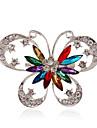Pentru femei Personalizat Lux Bijuterii Statement Modă European Pietre sintetice Teracotă Ștras Argilă Diamante Artificiale Aliaj Fluture
